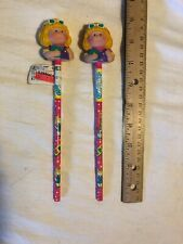 CABBAGE PATCH KIDS DOLL 1984 SET OF 2 PENCIL TOPPERS AND PENCILS Not Used