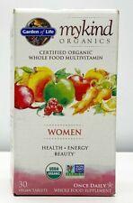 Garden Of Life Mykind Women Health Energy Beauty 30 Vegan Tablets 04/2022+
