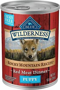 12 PACK NEW Blue Buffalo Wilderness Natural Puppy Wet Dog Food 12.5-oz cans