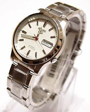 SNK789 SEIKO 5 Stainless Steel Band Automatic Men's White Watch SNK789K1 New !!