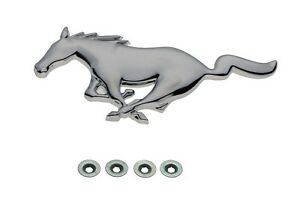 2005-2009 Ford Mustang Chrome Pony Horse Front Grille Emblem OEM 5R3Z-8A224-AA