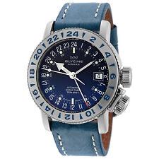 Glycine 3918.18.LB8B Men's Airman 18 GMT Automatic 39mm Blue Dial Watch - GL0221