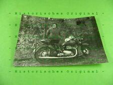 Foto Motorrad Ariel Square Four Holzland bei Klosterlausnitz DDR Thüringen 1963