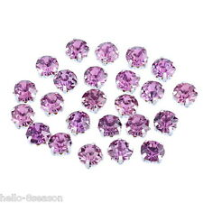 150PCs Mauve Glass Single Claw Rhinestone 4mm x4mm