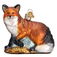 """Red Fox"" (12189)X Old World Christmas Glass Ornament w/ OWC Box"