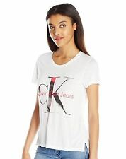 Calvin Klein Jeans Women's Painterly Tee - White - Size L - New With Tags