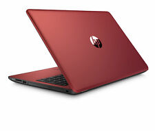 "HP 15.6"" Laptop Intel Quad 2.7GHz 500GB HDD DVD+RW Windows 10 - Red"