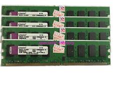 Kingston 8GB (4X2GB) PC2-6400 PC6400 800MHZ 240Pin Desktop Memory  Dual Channel