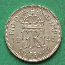 1945 George VI Silver Sixpence SNo44298