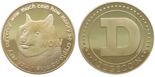 1Pc Gold Dogecoin Coins New Collectors Gold Plated Doge Coin #DOGE