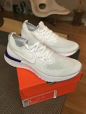 NIKE WOMENS EPIC REACT FLYKNIT TRIPLE WHITE SIZE 8 MEMBER EXCLUSIVE SOLD OUT