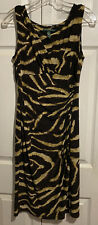 LRL Animal Print Dress Size Lauren Ralph Lauren Ruched