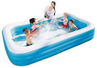 Bestway Family Pool Deluxe 305x183x56 cm Schwimmbad Planschbecken 3m 300cm NEU
