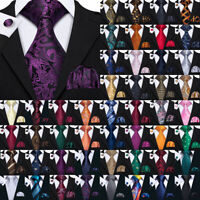 USA Silk Mens Tie Set Red Blue Black Grey Gold Pink Wedding Necktie Lot Jacquard