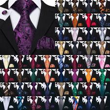 USA Silk Mens Tie Set Red Blue Black Grey Gold Pink Wedding Necktie Lot Jacquard