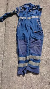 Ladies Or Mens Use Safety Blue Colour Boilersuit Or Overalls.