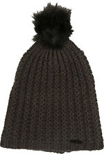 BILLABONG WOMENS HAT.COLD FOREST GREY KNITTED BOBBLE POM POM BEANIE 7W BN07 328
