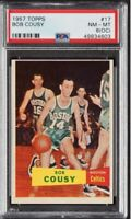 Bob Cousy Rookie Card Topps 1957 PSA 8 Rare Condition!!!! (OC)
