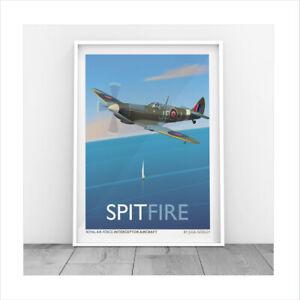 Original print Spitfire Plane bomber RAF Planes Aeroplane World War print only