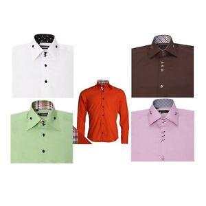 Daniel Rosso Men's Slim Fit Long Sleeve Fashion Formal Occasion Wedding Shirt