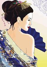 GEISHA GIAPPONESE ARTE A3 art print poster yf5214