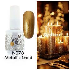 SYSTER 15ml Nail Art Soak Off Color UV Gel Polish N078 - Metallic Gold