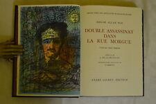 DOUBLE ASSASSINAT DANS LA RUE MORGUE - EDGAR A. POE - CARZOU - SAURET 1969