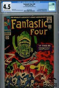 1966 Marvel Comics FANTASTIC FOUR #49 CGC 4.5, 1st Full Appearance of GALACTUS