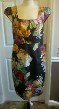 Monsoon Bodycon Floral And Butterfly Dress Size 14