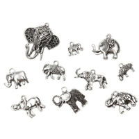 10pcs Vintage Elephants Charms Pendants for DIY Jewelry Findings Craft