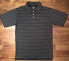 Champs Sports Small Mens Polo/Golf Shirt Black With White Stripes