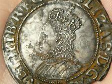 c1590-92 Elizabeth I Shilling mm Hand Hammered Silver Coin S2577 #LBB3
