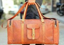 Duffel Travel Luggage Weekend Gym Overnight BagBrown Large Mens Leather Vintage