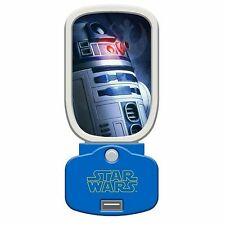 STAR WARS - R2D2 GLOWLIGHT USB CHARGER [NEW, 2015] - LUCASFILM - energy eff LED