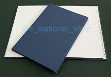 1x A6 148x105mm BLUE HARDBACK CASEBOUND A-Z INDEXED ADDRESS INDEX BOOK 192 PAGES