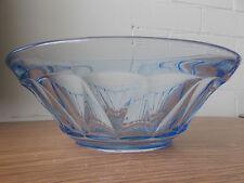 Vintage Antique Collectable Retro Pale Blue Pressed Glass Bowl
