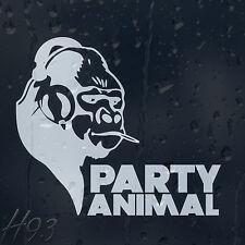 Funny Party Animal Smoking Monkey Car Decal Vinyl Sticker