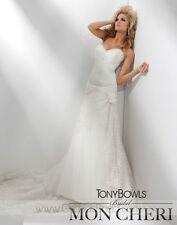 BNWT TONY BOWLS WEDDING GOWN DRESS T211282 SZ 6 IN IVORY *RETAIL $1800