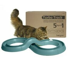 TURBO TRACK INTERACTIVE CAT KITTEN TOY WITH BALL - FIVE TOYS IN ONE! Made in USA