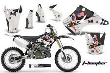 Dirt Bike Decal Graphics Kit Wrap For Kawasaki KX125 KX250 2003-2016 TBOMBER BLK