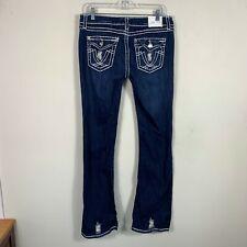"LA IDOL Jeans Women's Size 33 Inseam 33"" Boot Cut Dark Wash Pockets"