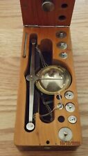 Antique Brass Balance Scale & Weights w/ Original Wooden Box - Made in Germany