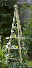 Smart Garden Sage Wooden Obelisk 1.9m High - Natural Wood Climbing Plant Support