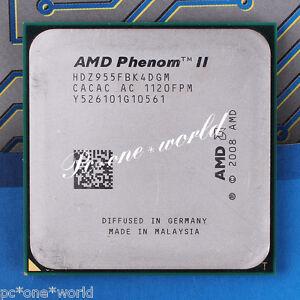 AMD Phenom II X4 955 CPU 3.2 GHz Quad-Core HDZ955FBK4DGM 125w Processor X4-955