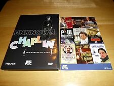Unknown Chaplin: The Master At Work (DVD, 2005 A&E) Ultra Rare/OOP! 1983 Special