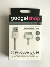 Gadget shop - 30 pin cable to USB - Made for iPod - iPhone - iPad - New