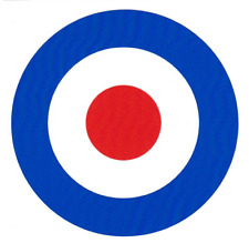 LARGE BRITISH MOD TARGET VINYL STICKER SCOOTER 60s THE WHO JAM RAF LOGO ROUNDEL