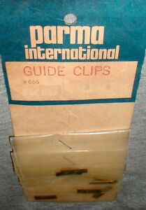 4 Pair Solid Brass Brush Retainers for Slot Car Pick-up Guide Parma Vintage NOS