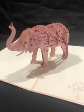 Love Elephant 3D Pop Up Card Animal Love Birthday Anniversary Greeting Card