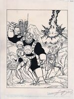 DC HEROES Role-Playing Game FEARSOME 5 Fire & Ice Cover GEORGE PEREZ Auto Titans